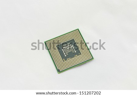 cpu on white