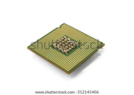 cpu on white background.