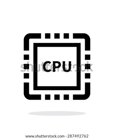 CPU simple icon on white background. - stock photo