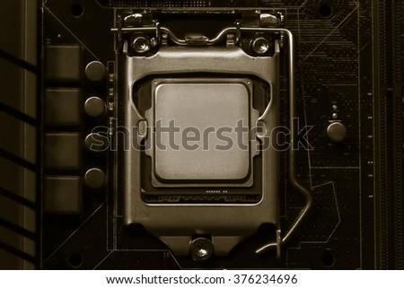 CPU,socket,Macro CPU socket.CPU socket The main components of a computer. - stock photo