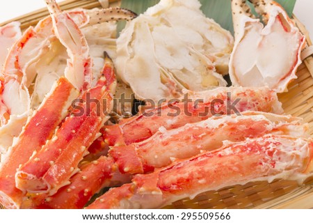 crab legs - stock photo
