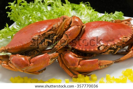 Crab Seafood Dish - stock photo