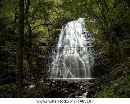 Crabtree Falls, North Carolina - stock photo