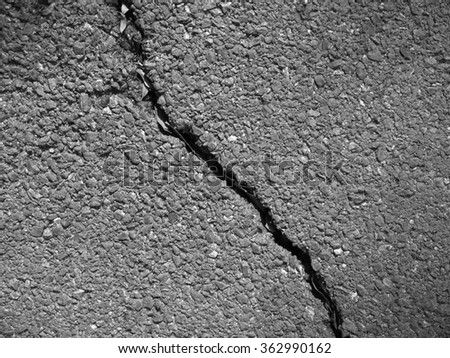crack asphalt road texture - stock photo