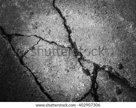 Crack concrete texture - stock photo