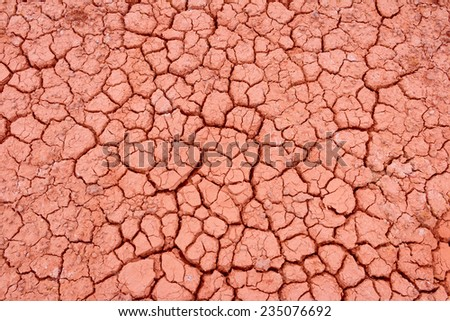 Crack earth/Crack soil on dry season/Global worming effect background - stock photo