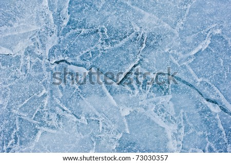 crack in ice - stock photo