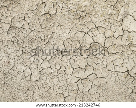 crack in the ground - stock photo