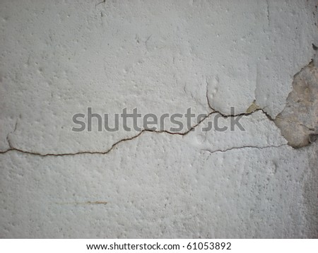 crack in the wall - stock photo