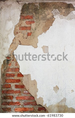 crack of brick wall - stock photo