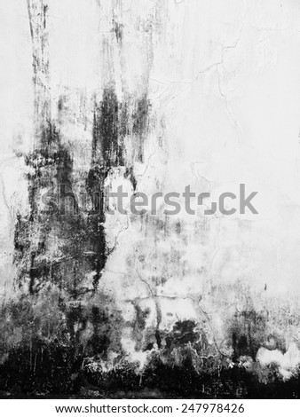 crack old dirt white wall texture - stock photo