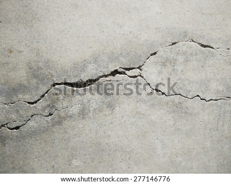 crack on the wall - stock photo