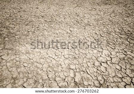 Crack soil on dry season, Global worming effect.Crack soil on dry season, Global worming effect. - stock photo