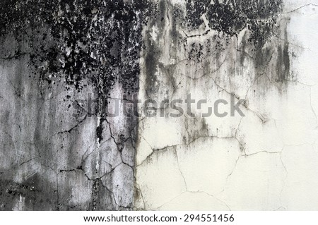 crack wall - stock photo