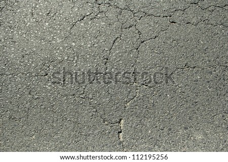cracked asphalt texture - stock photo