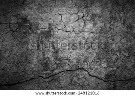 Cracked cement background - stock photo