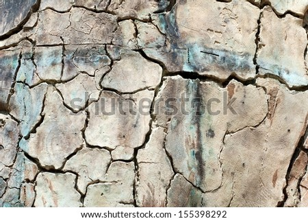cracked clay