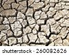 cracked clay ground into the dry season - stock photo
