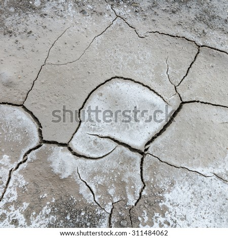 Cracked clay natural background - stock photo