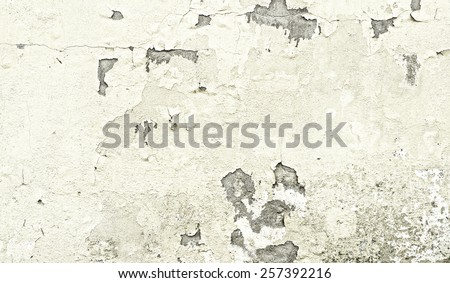 Cracked concrete old wall texture background - stock photo