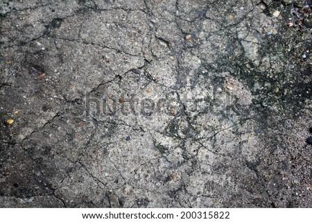 Cracked concrete texture  - stock photo