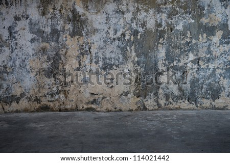 cracked concrete vintage wall background, old grunge wall - stock photo
