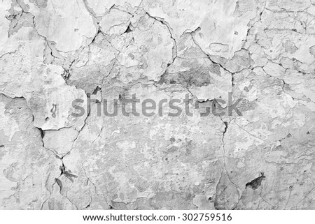 Cracked concrete wall background or texture. Close-up