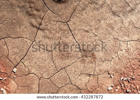 cracked dirt mud. example of erosion. - stock photo