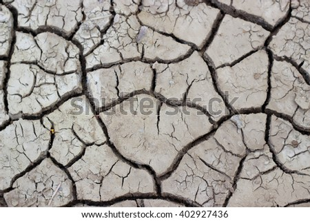 Cracked earth drought