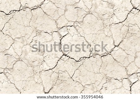 cracked ground texture beige background - stock photo