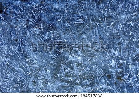 cracked ice texture - stock photo