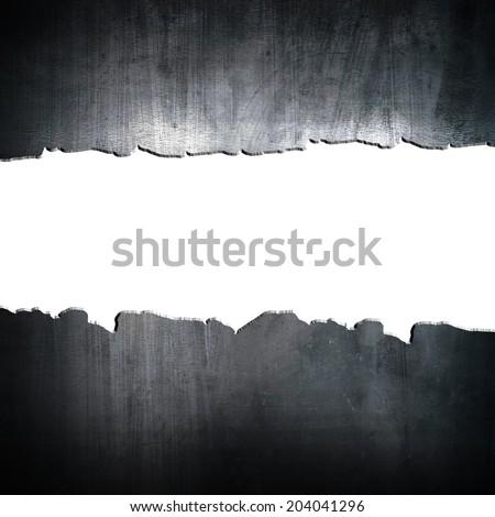 cracked metal  - stock photo