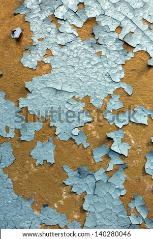 Cracked old paint - stock photo