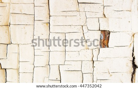 Cracked Paint Grunge Wall Abstract Fine Art Wall Photograph - stock photo