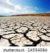 Cracked River bed in South Australia - stock photo