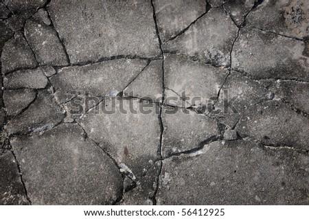 Cracked rock texture - stock photo