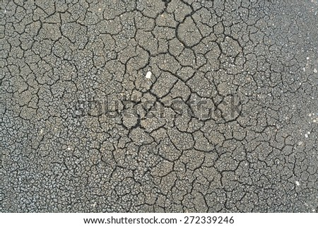 Cracked Soil Dry Earth or Land Texture Background - stock photo