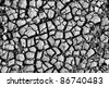 Cracked soil. In B/W. Use for background or texture - stock photo
