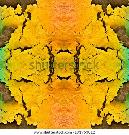 Cracked wall with colorful of texture and pattern - stock photo