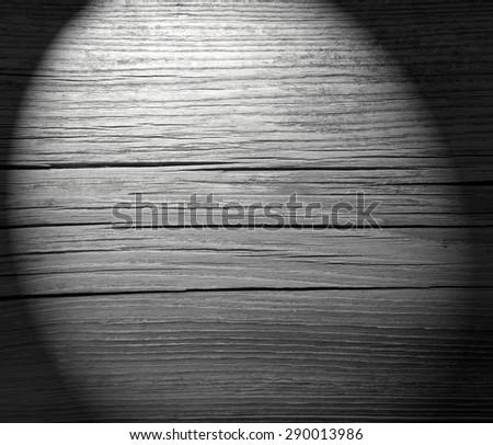 cracked wood texture background black vignette - stock photo