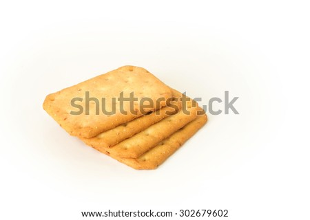 cracker biscuit on white background