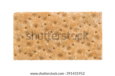 Cracker (breakfast) isolated on a white background
