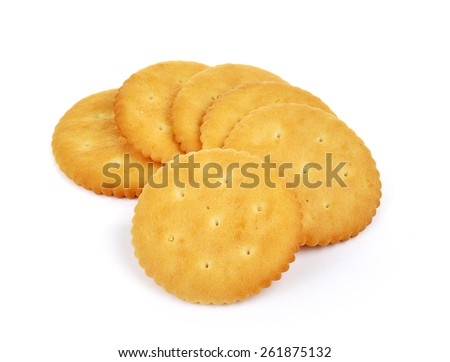 Cracker isolated on  over white background  - stock photo
