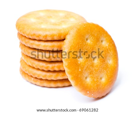 cracker isolated on white background - stock photo