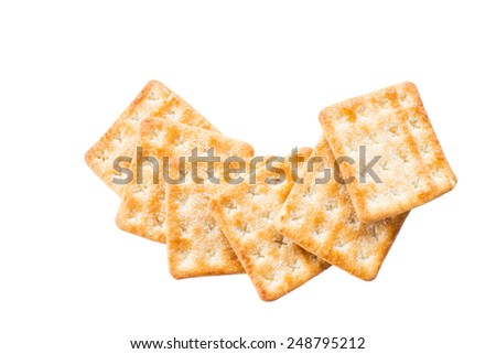 Cracker isolated on white backgruond - stock photo