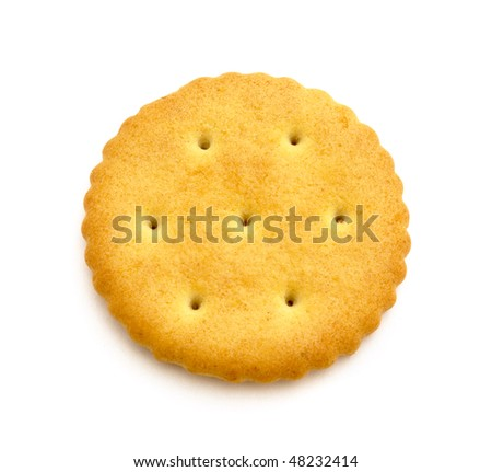 Cracker - top view, isolated on white - stock photo