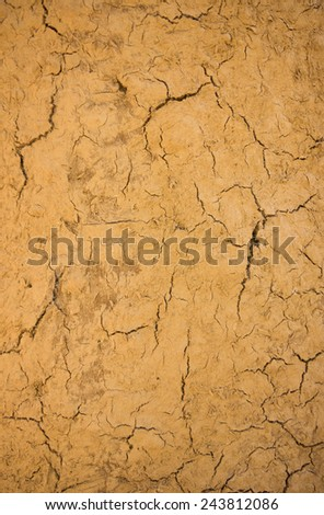 Cracks in the land in rural areas, Cracks land background, Cracked ground in a desert. - stock photo