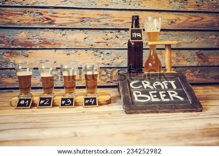 Craft Beer in American Brewery - stock photo