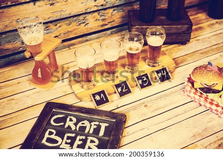Craft Beer in Bar - stock photo