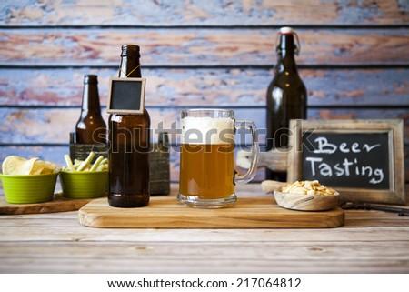 Craft Beer in Bar - stock photo
